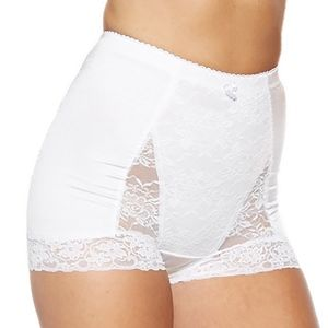 Rhonda Shear White Pin Up Girl Lace Control Panty